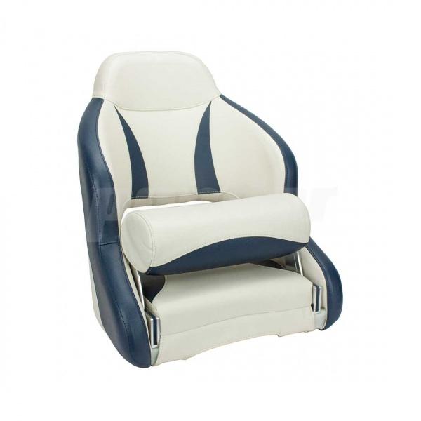 """Bootssitz """"NAHE"""", Flip-Up-Funktion, cremeweiss und blau"""