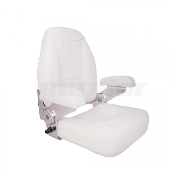 """Bootssitz """"RUHR"""", mit verstellbarer Rückenlehne und klappbaren Armlehnen, weiß"""