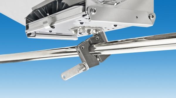 Magma Relinghalterung für rechteckige Grills und Tische, für runde Relinge 22 oder 25 mm horizontal