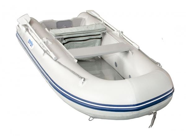 Ponttor Schlauchboot - HSD 420 mit Aluminiumboden, grau