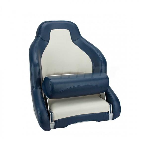 """Bootssitz """"MAIN"""", Flip-Up-Funktion, cremeweiss und blau"""