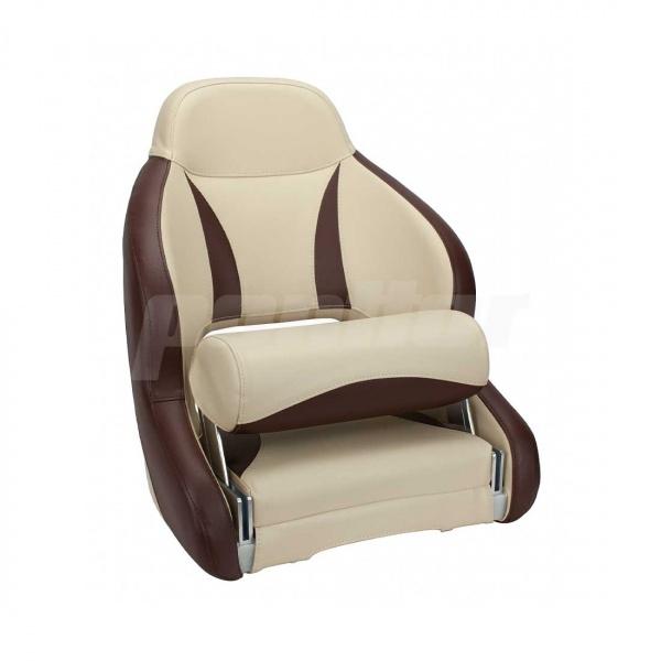 """Bootssitz """"NAHE"""", Flip-Up-Funktion, beige und dunkelbraun"""