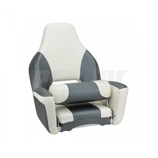 """Bootssitz """"KYLL"""", mit Flip-Up-Funktion, carbongrau & weiß"""
