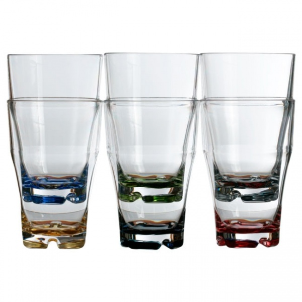 "MARINE BUSINESS - ""PARTY"" - Wasserglas-Set, 6 tlg, farbig sortiert"
