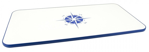 Tischplatte aus melaminbeschichteter Spanplatte, 87 x 45 cm