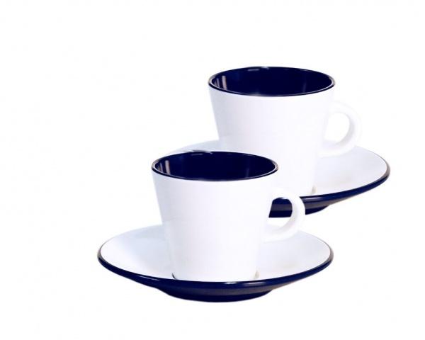 Gimex - Linea Blue - Espresso Set 4 tlg