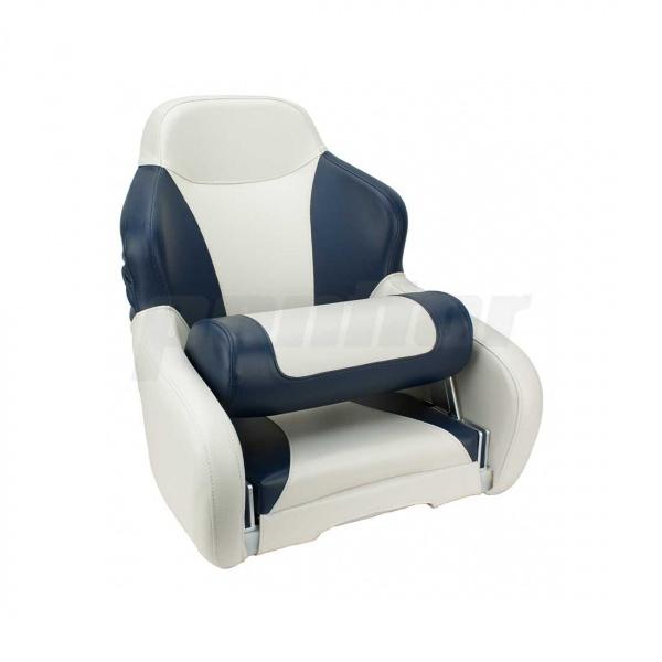 """Bootssitz """"HAVEL"""", Flip-Up-Funktion, cremeweiss und blau"""