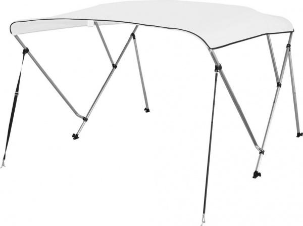 Bimini Top Deluxe Sonnenschutz mit 3 Armen, Aluminium, L183xH117cm, verschiedene Breiten, weiss