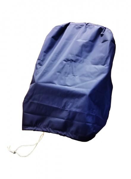 Schutzbezug Canvas-Stoff für Steuerstühle, blau