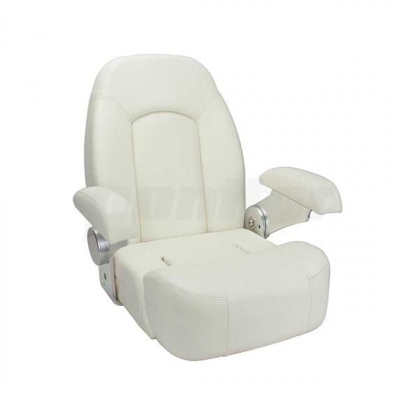 """Bootssitz """"SAAR"""", Flip-Up-Funktion, mit nach hinten klappbaren Armlehnen, weiss"""