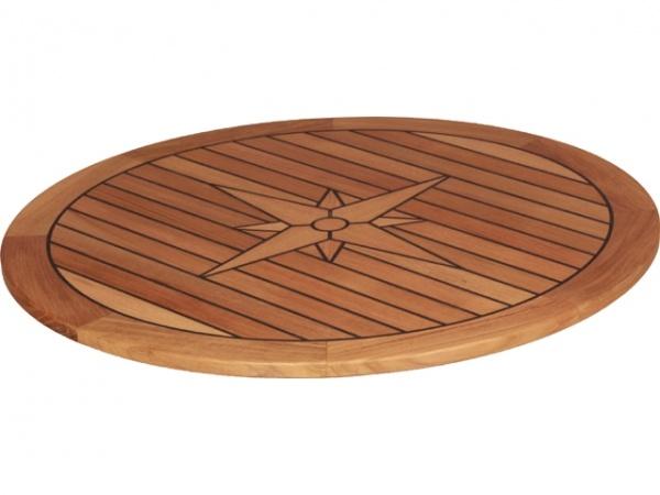 EUDE - Teak Tischplatte Circle, 65 cm