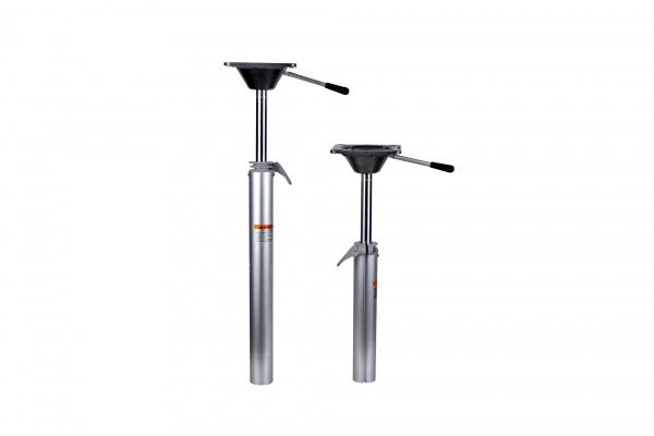 Stuhlfuß abnehmbar, Plug-In, höhenverstellbar per Gasdruckfunktion von 56 cm - 71 cm, mit Sitzplatte