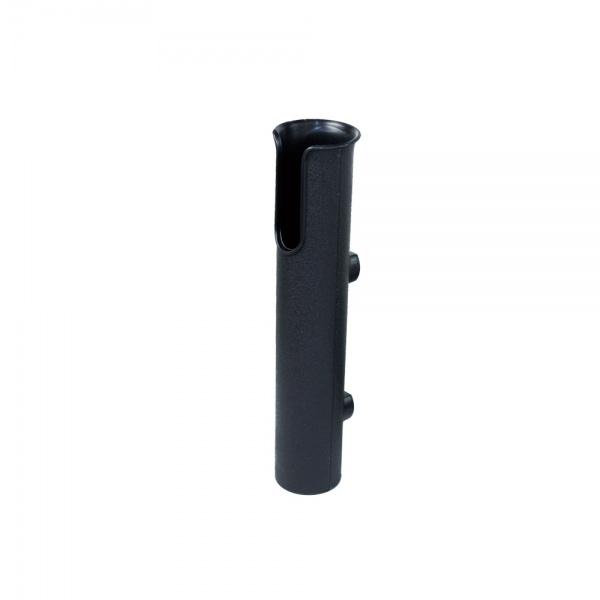 Angelrutenhalter aus Kunststoff zur Wandmontage Schwarz