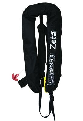 Lalizas aufblasbare Rettungsweste Zeta 290N, CE ISO 12402-2, mit D-Ring und Schrittgurt