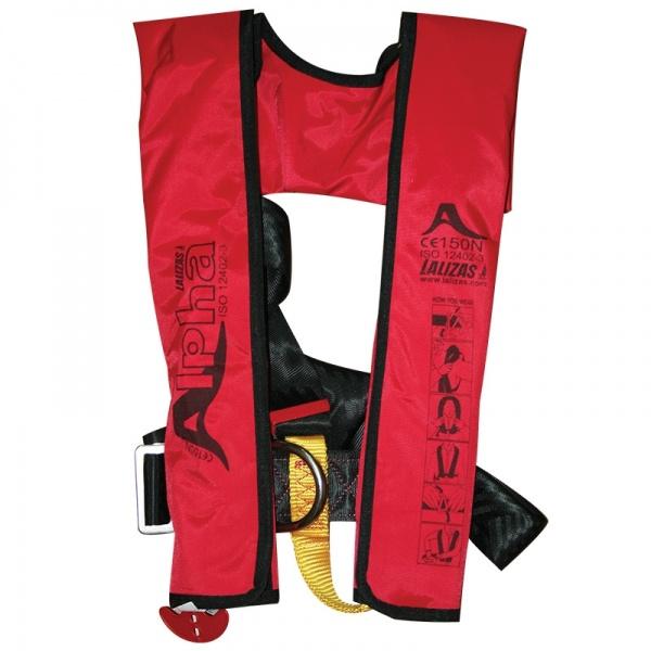 Lalizas aufblasbare Rettungsweste Alpha 170N, CE ISO 12402-3, für Erwachsene, manuell