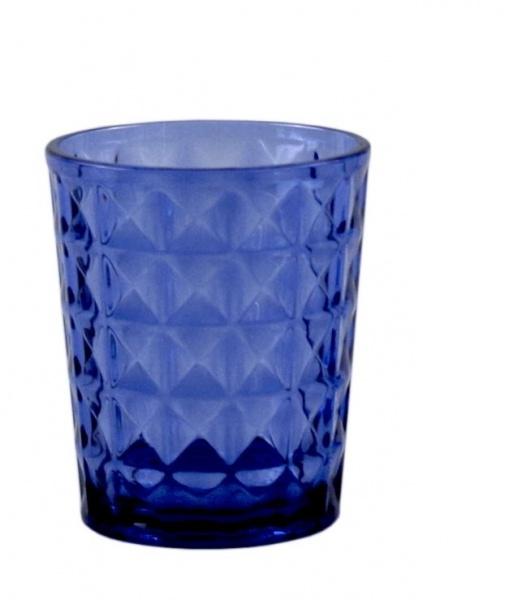 "Gimex - ""STONE LINE"" - Wasserglas, 2 tlg, azure"