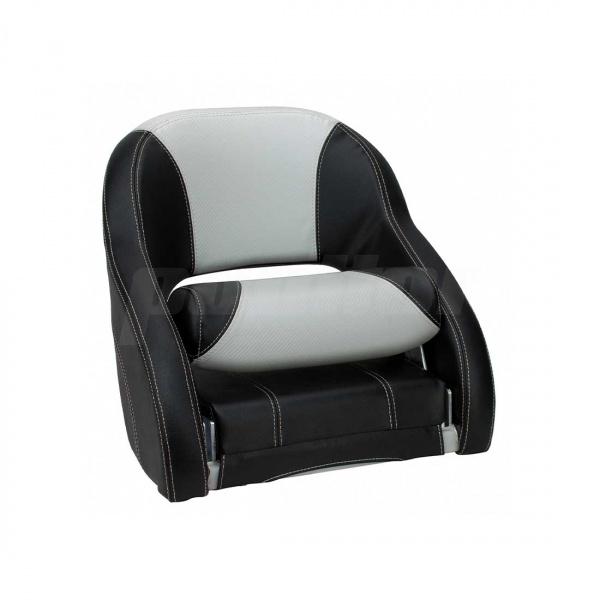 """Bootssitz """"NECKAR"""", Flip-Up-Funktion, schwarz und hellgrau carbon"""