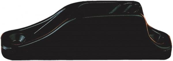 Clamcleat CL203 Nylon Klemme mit Leitöse für Tauwerk 3-6 mm, schwarz