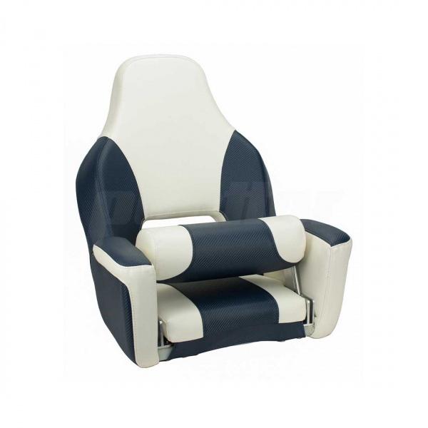 """Bootssitz """"KYLL"""", mit Flip-Up-Funktion, carbonblau & weiß"""