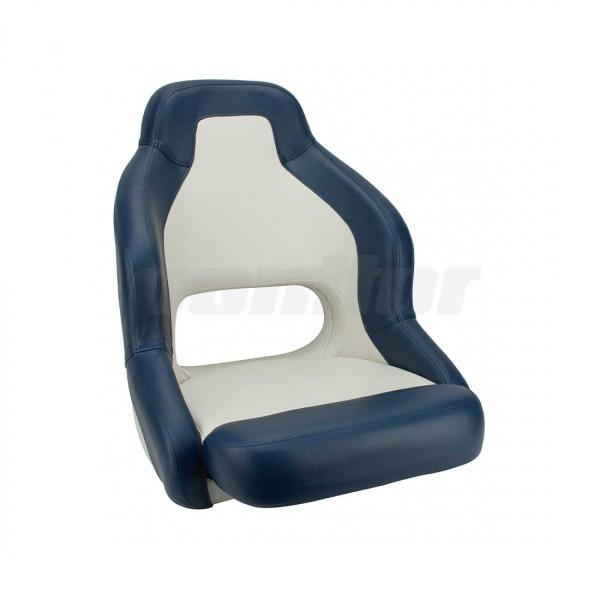 """Bootssitz """"KOCHER"""", cremeweiss und dunkelblau"""