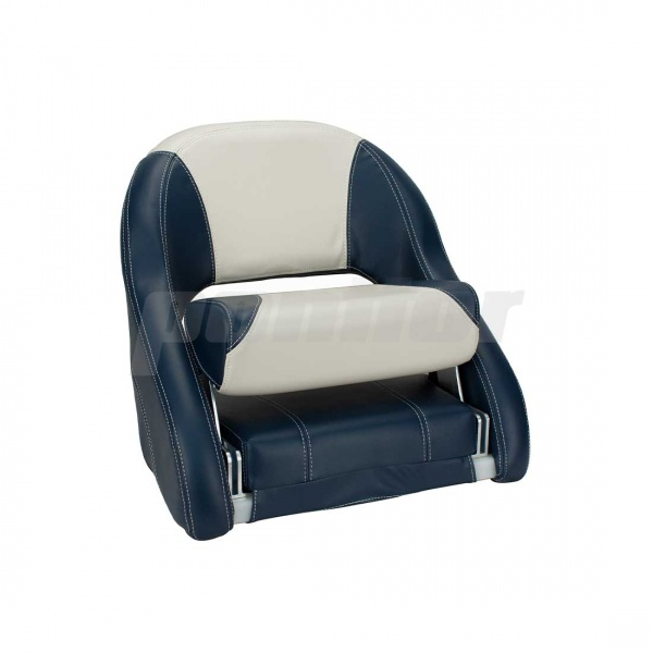 """Bootssitz """"NECKAR"""", Flip-Up-Funktion, dunkelblau und cremeweiss"""