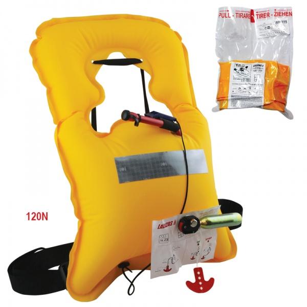 Lalizas aufblasbare Rettungsweste Vita 120N, CE ISO 12402-2, manuell