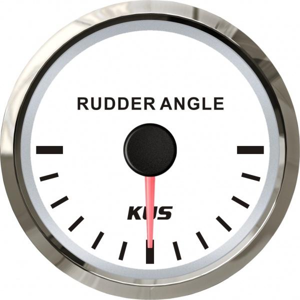 KUS - Ruderlagenanzeige, weisses Display mit Edelstahl-Lünette, 0-190Ω