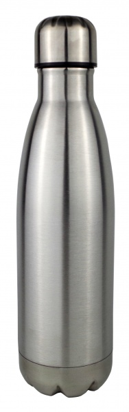 Gimex - Thermoflasche, 500ml, grau-metallic