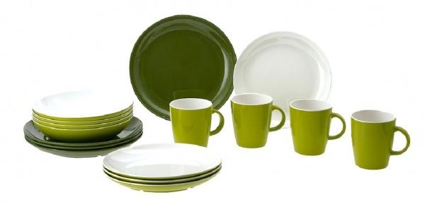 """Gimex - """"CLASSIC LINE FOREST"""" - Geschirrset, 16 tlg, grün"""