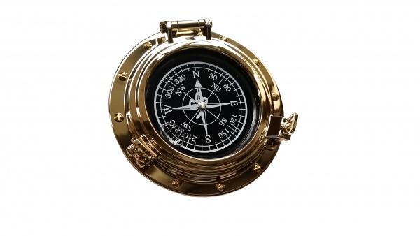 "Kompass ""Bullauge-Style"", runde Form"