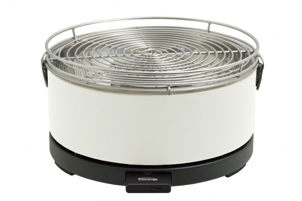 """Feuerdesign """"Mayon"""" Holzkohlegrill, Farbe: cremeweiss"""