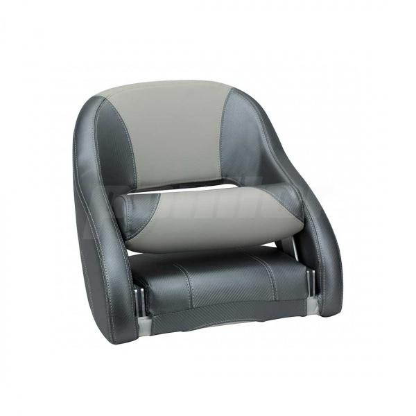 """Bootssitz """"NECKAR"""", Flip-Up-Funktion, dunkelgrau carbon und hellgrau"""