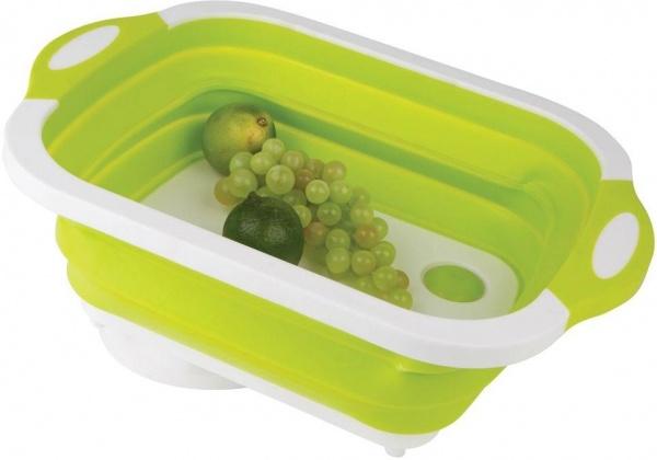 Gimex - Schneidebrett und Waschschüssel 2 in 1, grün
